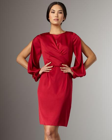 Mira Open-Sleeve Dress