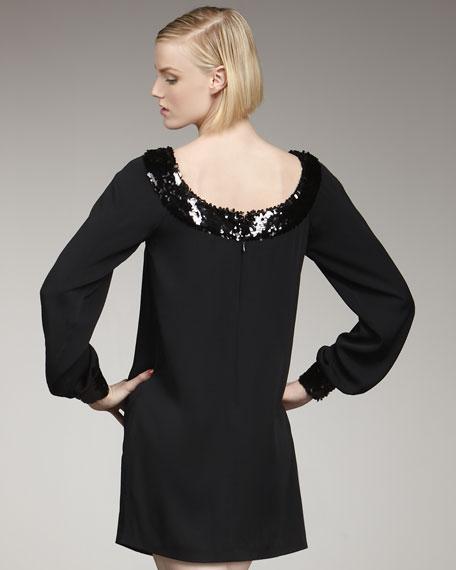 Grace Sequin-Trim Dress