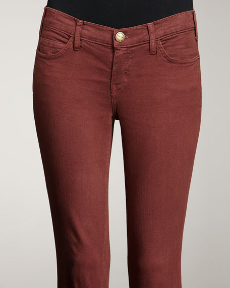 Bordeaux Skinny Ankle Pants