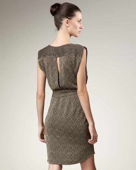 Blossom-Print Knit Dress