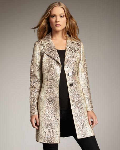 Snake-Jacquard Coat