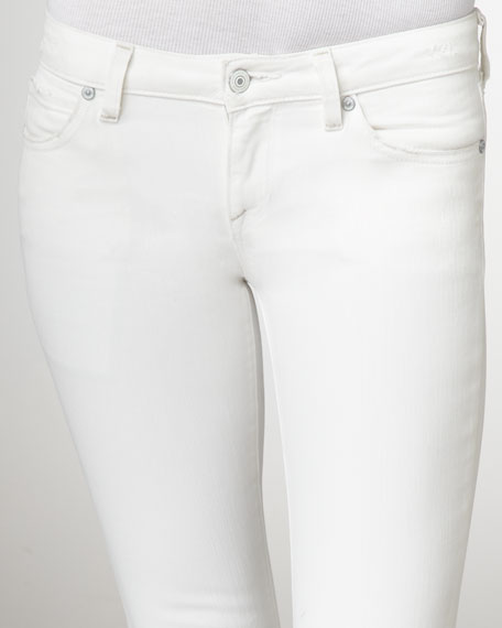 Cropped Skinny Jeans, White