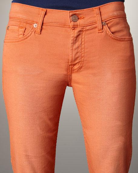 Gwenevere Deep Cantaloupe Skinny Jeans