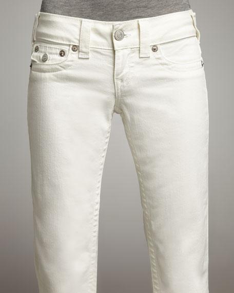 Billy Straight Leg Jeans, White