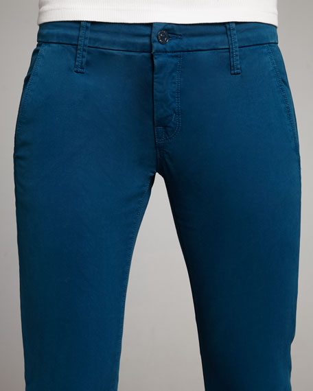 The Looker Skinny Twill Pants, Blue