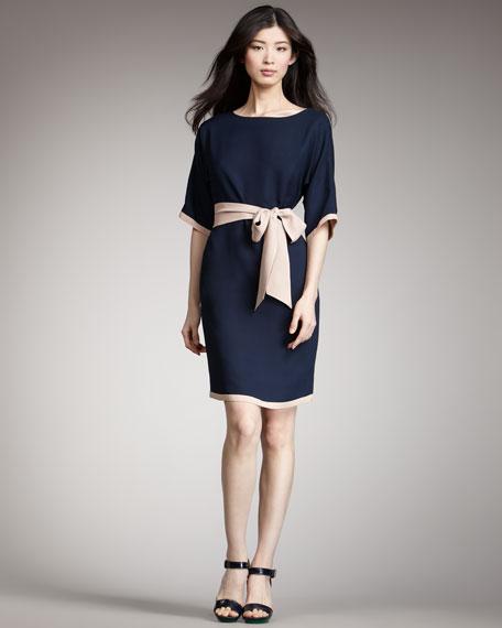 Paloma Belted Contrast Dress