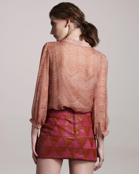 Iraz Leather Skirt