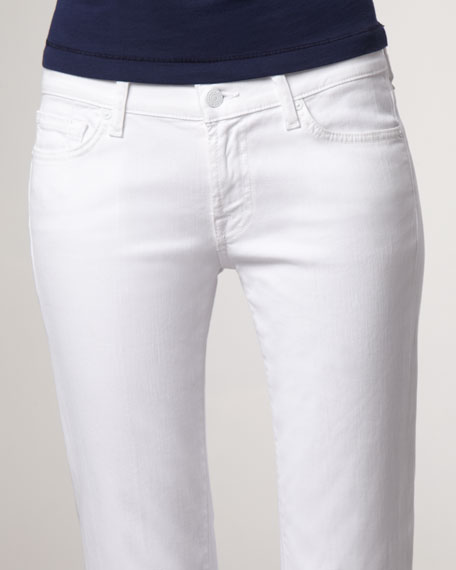 Original Boot-Cut Clean White Jeans