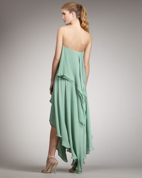 Ruffle Tie-Waist Gown