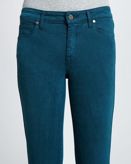 Faith Straight-Leg Jeans, Cool Colors