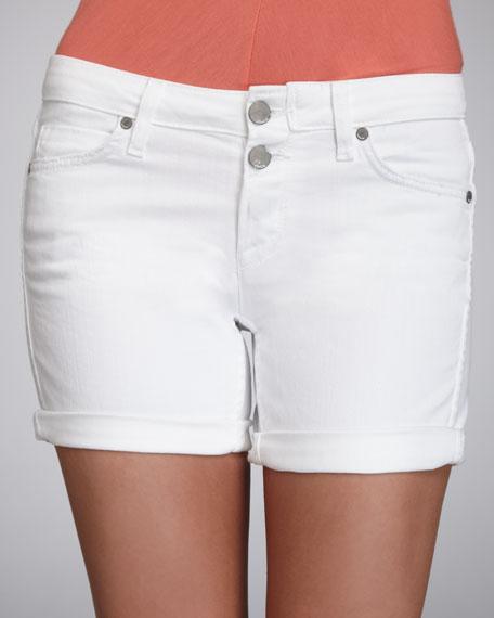 Luce Denim Shorts, White