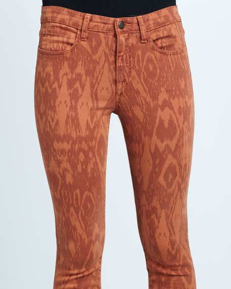 The High Water Adobe Ikat-Print Jeans