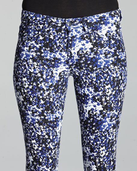The Skinny Electric Blue Daisy Jeans