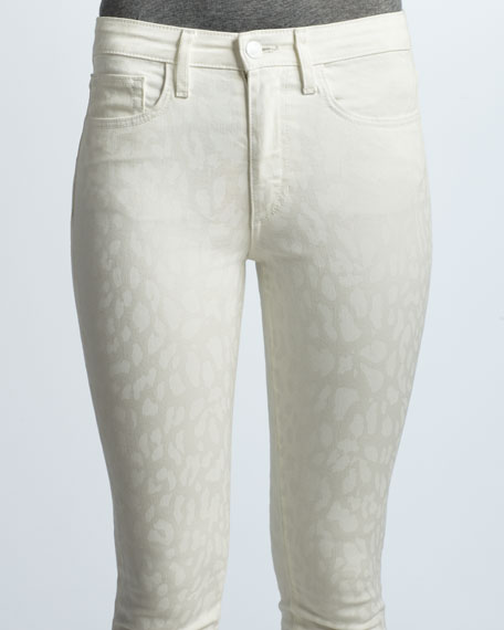 The High Water White Leopard Jeans