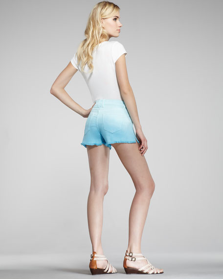 Neptune Dip-Dye Cutoff Denim Shorts