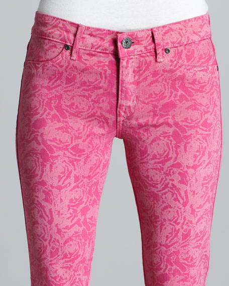 Legacy Pink Floral-Print Jeans