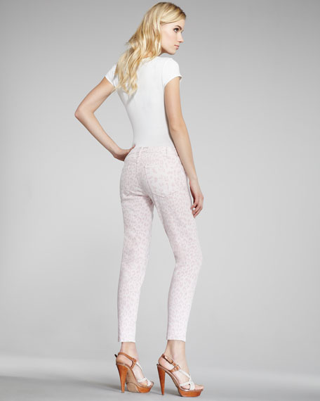 The Stiletto Rose Leopard-Print Jeans