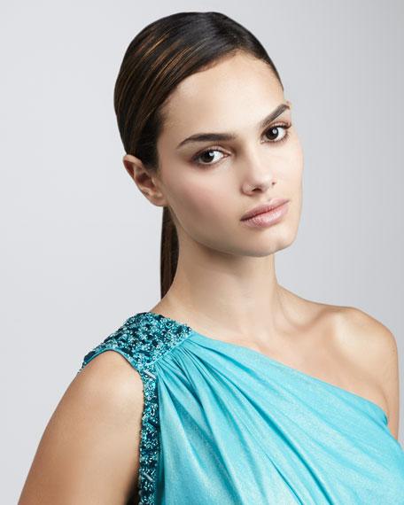 One-Shoulder Caftan Dress