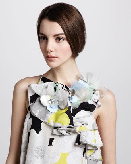 Nascha Embellished Silk Dress