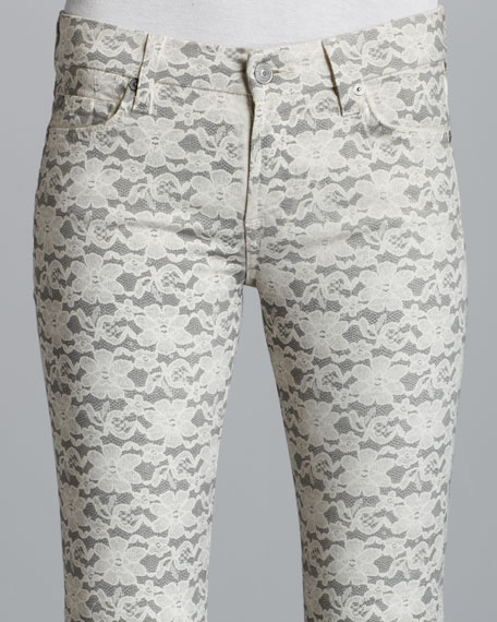Lace Gummy Skinny Jeans