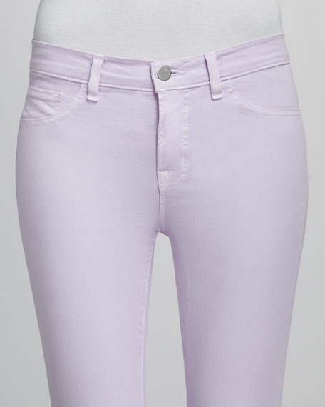 Luxe Twill Slim Pants, Lilac
