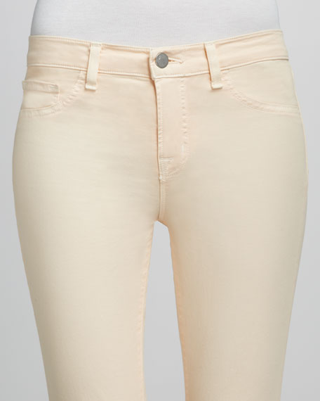 Luxe Twill Slim Pants, Sherbet