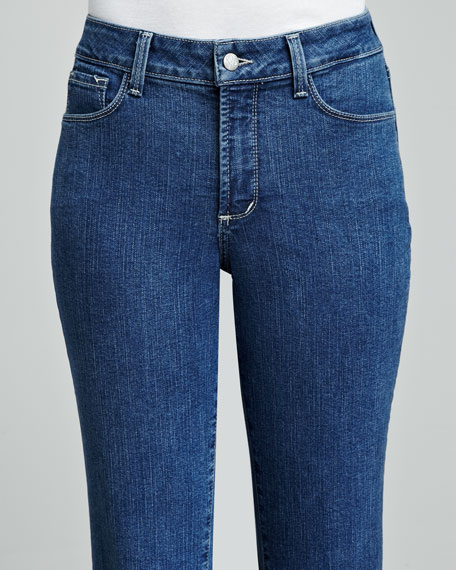 Barbara Embellished-Pocket Boot-Cut Jeans, Women's