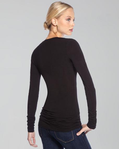 Long-Sleeve Layering Top, Black
