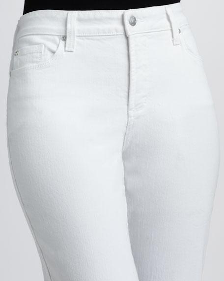 Alyssia Rhinestone-Cuff Cropped Jeans, Petite