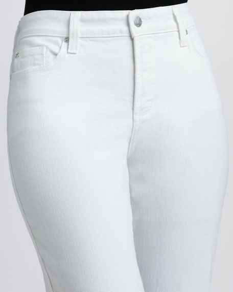 Alyssia Rhinestone-Cuff Cropped Jeans, Women's