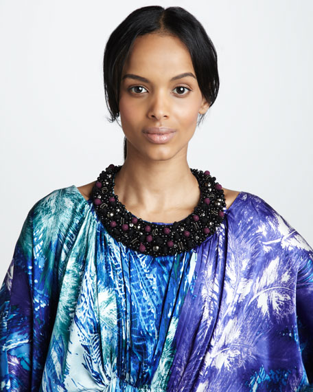 Caftan with Separate Beaded Necklace