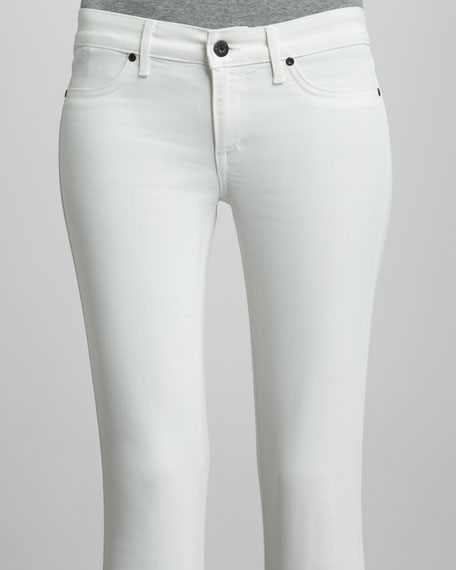 Coated Legacy Skinny Jeans, White