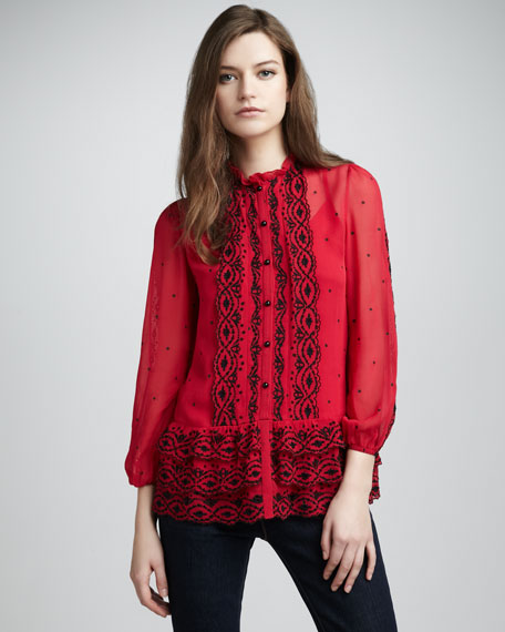 Mitford Embroidered Top