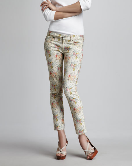 Skyline Keighly Floral-Print Ankle Peg Jeans