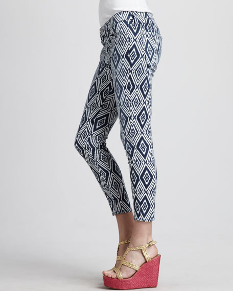 Cropped Skinny Jeans, Diamond Summer