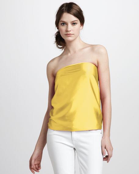 Harriet Convertible Tie-Neck Top, Yellow