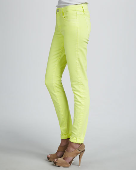 High-Rise Skinny Ankle Jeans, Sunglow