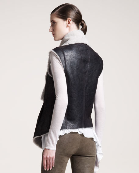 Weathered Shearling Vest