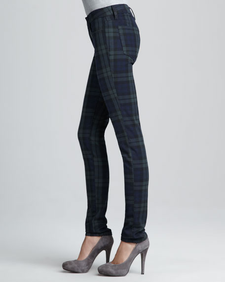 The School Yard Plaid Skinny Jeans