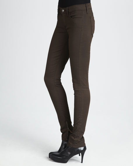 Zip-Leg Skinny Pants