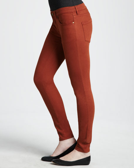 Spray-On Skinny Jeans, Orange