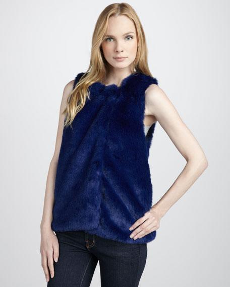 Faux-Fur & Leather Vest