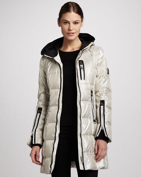 Annica Long Shimmer Puffer Coat