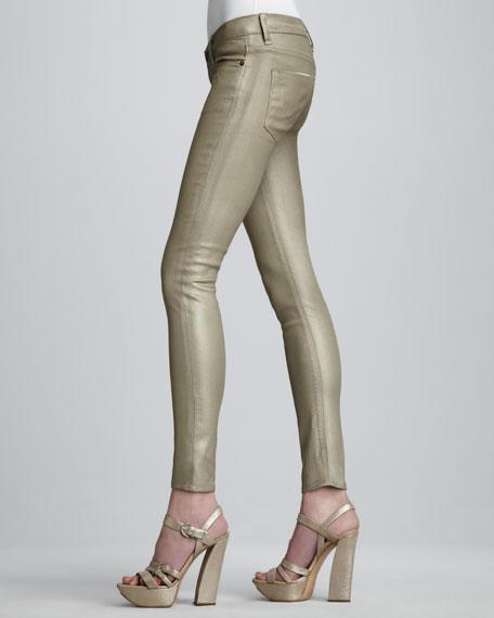Krista Gold Super Skinny Jeans