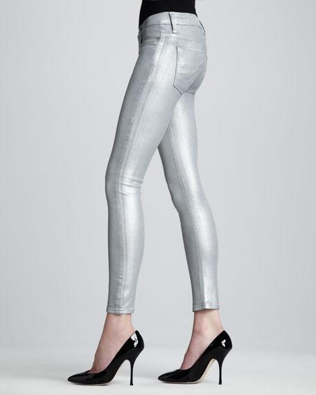 Krista Silver Super Skinny Jeans