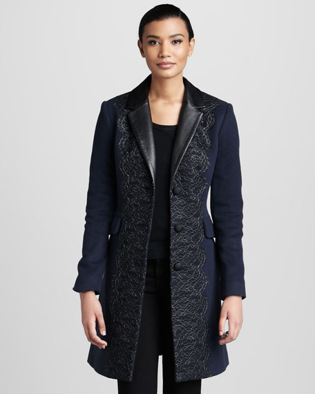 Madeline Lace-Front Coat