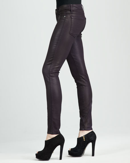 Shady Coated Faux-Leather Leggings