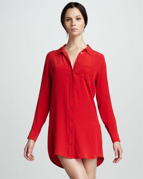 Silk Shirtdress
