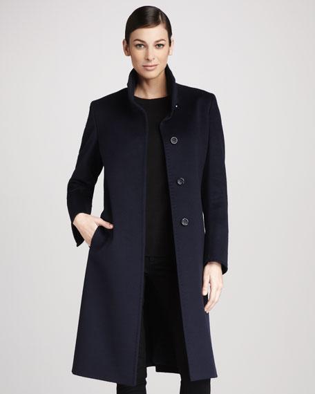High-Collar Wool Coat