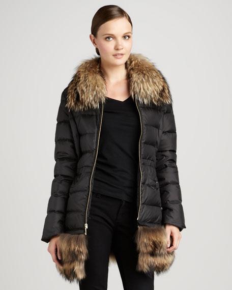 Alexa Detachable-Fur Coat